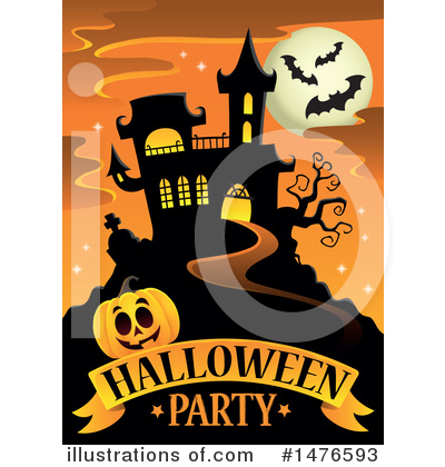 Halloween Party Clipart #1476593 by visekart