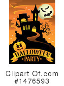 Royalty-Free (RF) Halloween Party Clipart Illustration #1476593