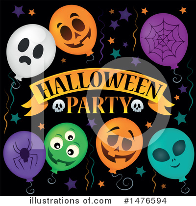 Halloween Party Clipart #1476594 by visekart