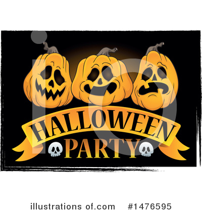 Halloween Party Clipart #1476595 by visekart