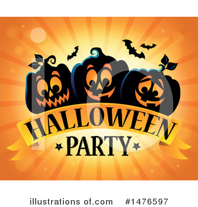 Halloween Party Clipart #1476597 by visekart
