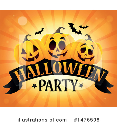 Halloween Party Clipart #1476598 by visekart