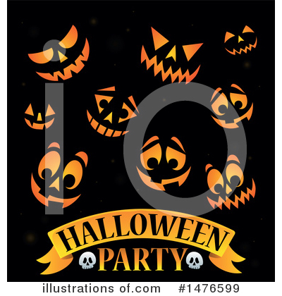 Halloween Party Clipart #1476599 by visekart