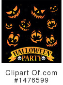 Royalty-Free (RF) Halloween Party Clipart Illustration #1476599