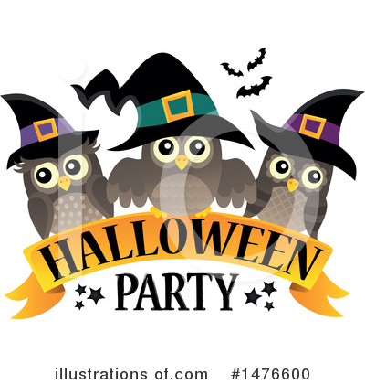 Halloween Party Clipart #1476600 by visekart