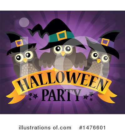 Halloween Party Clipart #1476601 by visekart