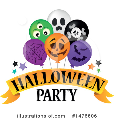 Halloween Party Clipart #1476606 by visekart