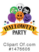 Royalty-Free (RF) Halloween Party Clipart Illustration #1476606