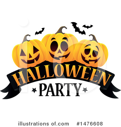 Halloween Party Clipart #1476608 by visekart