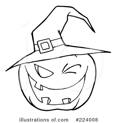 Royalty-Free (RF) Halloween Pumpkin Clipart Illustration by Hit Toon - Stock Sample #224008