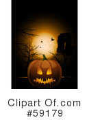 Royalty-Free (RF) Halloween Pumpkin Clipart Illustration #59179