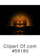 Royalty-Free (RF) Halloween Pumpkin Clipart Illustration #59180