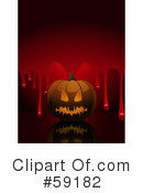 Royalty-Free (RF) Halloween Pumpkin Clipart Illustration #59182