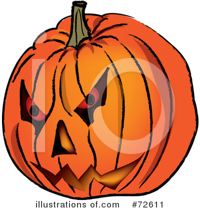 Royalty-Free (RF) Halloween Pumpkin Clipart Illustration by Pams Clipart - Stock Sample #72611