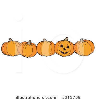 Royalty-Free (RF) Halloween Pumpkins Clipart Illustration by visekart - Stock Sample #213769