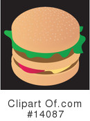 Royalty-Free (RF) Hamburger Clipart Illustration #14087