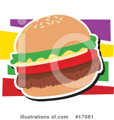 Royalty-Free (RF) Hamburger Clipart Illustration by Maria Bell - Stock Sample #17081
