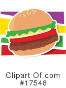 Royalty-Free (RF) Hamburger Clipart Illustration #17548