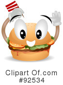 Royalty-Free (RF) Hamburger Clipart Illustration #92534
