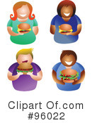 Royalty-Free (RF) Hamburger Clipart Illustration #96022