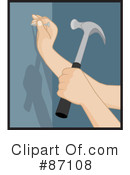Royalty-Free (RF) hammer Clipart Illustration #87108