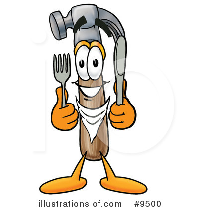 Royalty-Free (RF) Hammer Clipart Illustration by Toons4Biz - Stock Sample #9500