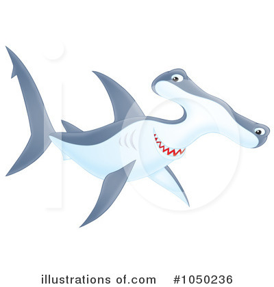 Hammerhead Shark Clipart #1050236 by Alex Bannykh