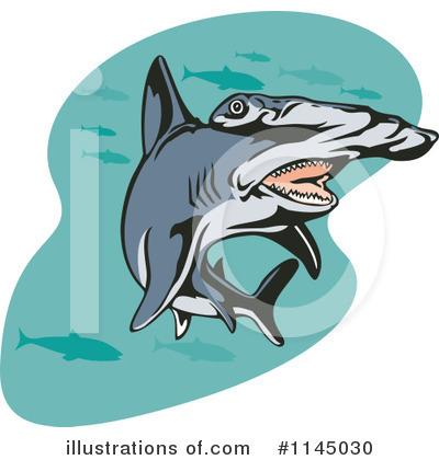 Hammerhead Shark Clipart #1145030 by patrimonio
