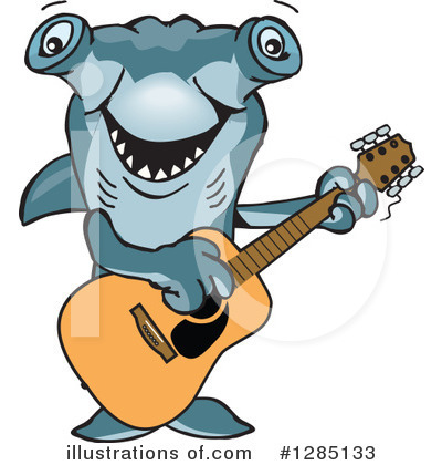 Shark Clipart #1285133 by Dennis Holmes Designs