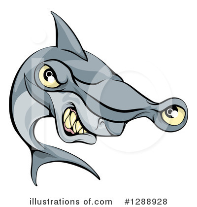 Hammerhead Shark Clipart #1288928 by AtStockIllustration