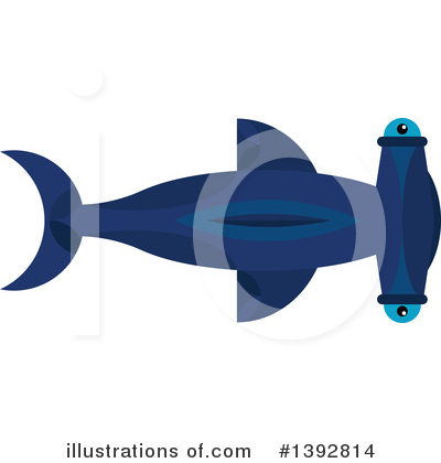 Hammerhead Shark Clipart #1392814 by Vector Tradition SM