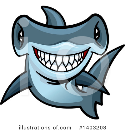Shark Clipart #1403208 by Vector Tradition SM