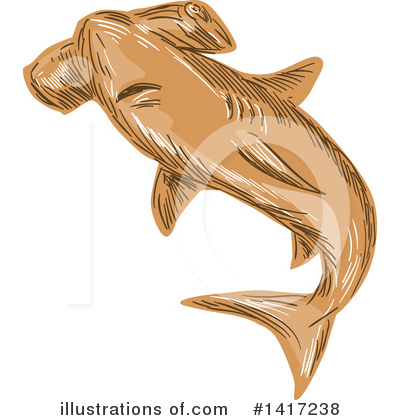 Hammerhead Shark Clipart #1417238 by patrimonio