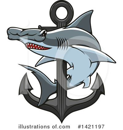 Shark Clipart #1421197 by Vector Tradition SM
