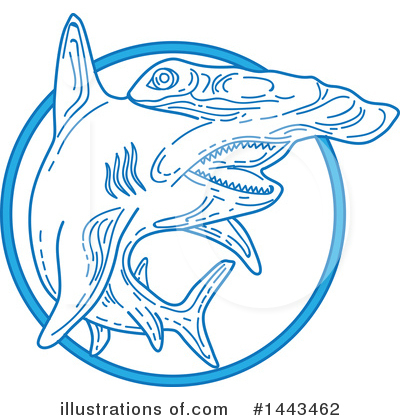 Royalty-Free (RF) Hammerhead Shark Clipart Illustration by patrimonio - Stock Sample #1443462