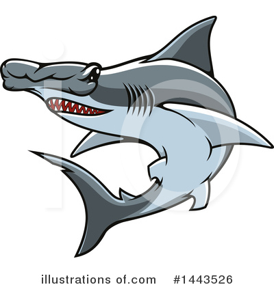 Hammerhead Shark Clipart #1443526 by Vector Tradition SM