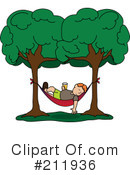 Royalty-Free (RF) Hammock Clipart Illustration #211936