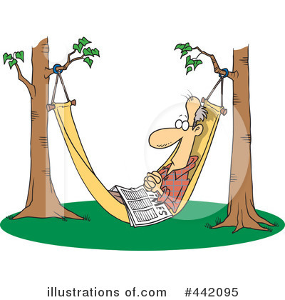 Royalty-Free (RF) Hammock Clipart Illustration by Ron Leishman - Stock Sample #442095