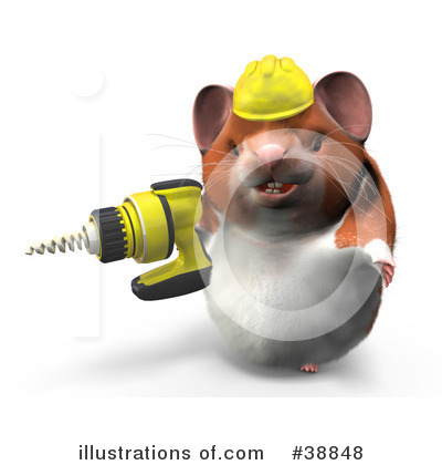 Hamster Clipart #38848 by Leo Blanchette
