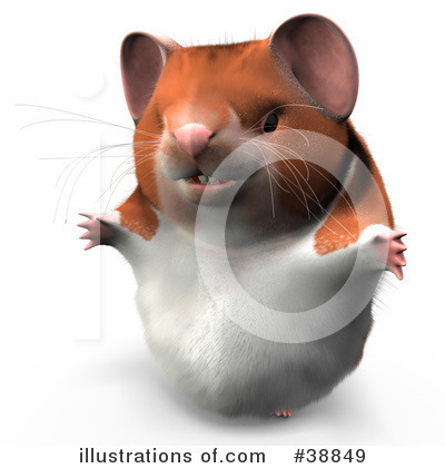 Hamster Clipart #38849 by Leo Blanchette