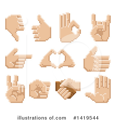 Royalty-Free (RF) Hand Clipart Illustration by AtStockIllustration - Stock Sample #1419544