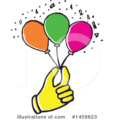 Balloon Clipart #1459623 by Cherie Reve