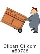 Royalty-Free (RF) Hand Truck Clipart Illustration #59738