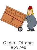 Royalty-Free (RF) Hand Truck Clipart Illustration #59742