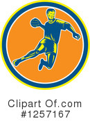 Handball Clipart #1257167 by patrimonio