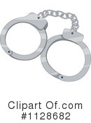 Royalty-Free (RF) Handcuffs Clipart Illustration #1128682
