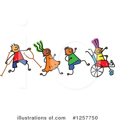 Royalty-Free (RF) Handicap Clipart Illustration by Prawny - Stock Sample #1257750