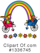 Royalty-Free (RF) Handicap Clipart Illustration #1336745