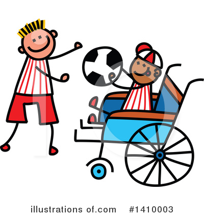 Royalty-Free (RF) Handicap Clipart Illustration by Prawny - Stock Sample #1410003