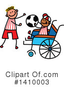 Royalty-Free (RF) Handicap Clipart Illustration #1410003